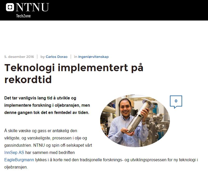 NTNU TechZone article